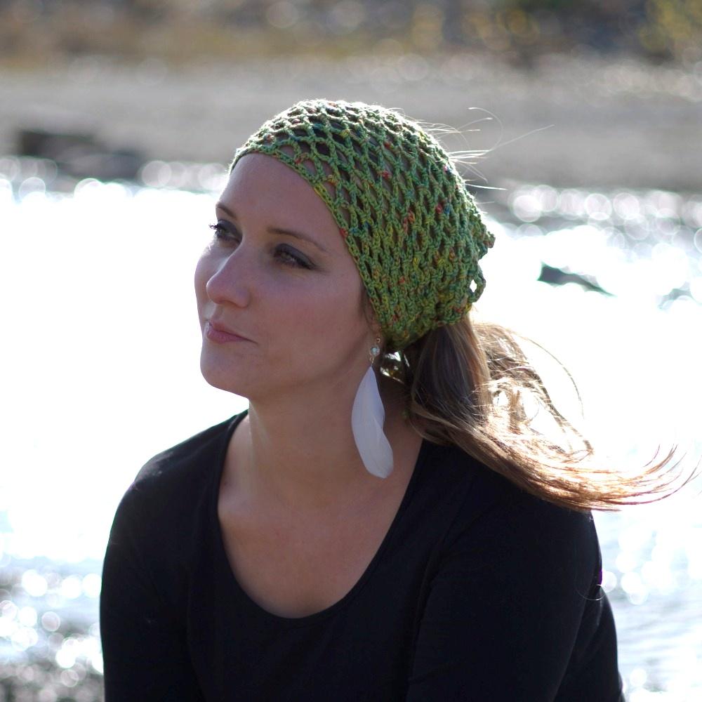 Síťovaný šátek zel
